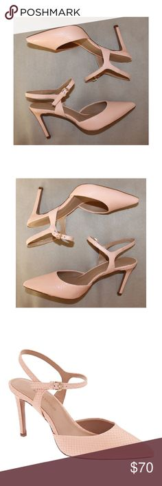 BANANA REPUBLIC Open Back Madison Pink Nude Heels Banana Republic Open Back Madison Shoes.  Neutral nude/light pink color.  New in box. Banana Republic Shoes Heels
