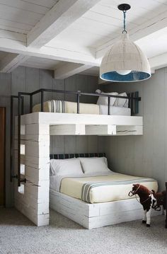 best guest room design ideas to make them feel comfortable page 6 Bunk Bed Rooms, Bunk Beds Built In, Kids Bunk Beds, Bunk Bed Ideas For Small Rooms, Kids Bedroom Furniture, Room Ideas Bedroom, Bedroom Decor, Smart Furniture, Furniture Ideas