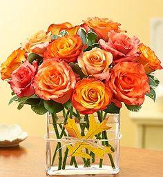 Fall - orange roses!