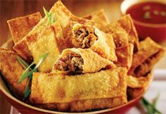 Learn How to prepare Chinese Food Appetizer Appetizer Dishes, Appetizer Recipes, Snack Recipes, Appetizers, Snacks, Egg Rolls, Spring Rolls, Dim Sum, Chinese Food