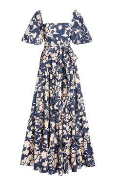 Get inspired and discover Cara Cara trunkshow! Shop the latest Cara Cara collection at Moda Operandi. Satin Midi Dress, Satin Dresses, Floral Maxi Dress, Gowns, Women's Dresses, Mode Hippie, Pretty Dresses, Designer Dresses, Ideias Fashion