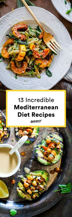 Health benefits aside, you should definitely try these flavorful dinner recipes. #mediterranean #dinner #recipes https://greatist.com/eat/dinner-recipes-healthy-mediterranean-recipes