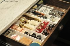 Honey We're Home: Organized Drawers Built In Around Fireplace, Home Wet Bar, Hutch Makeover, Organization Hacks, Organizing Tips, Cleaning Tips, Built In Bar, Wet Bars, Bar Areas