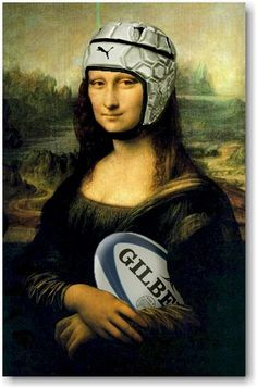 (Rugby Mona Lisa) Proving Rugby Makes Everything a Little Better Rugby League, Rugby Players, Rugby Memes, Rugby Funny, Nrl Memes, Rugby Quotes, Football Quotes, Funny Sports, Rugby Sport