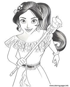 22 Best Elena Of Avalor Images Disney Coloring Pages Disney