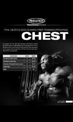 Phil Heath 2012 Olympia prep Traning (Chest) Day #2