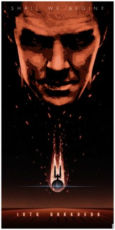 """Awesome 'Star Trek Into Darkness' Poster Centering On Benedict Cumberbatch's """"John Harrison"""" (flicks and bits) Star Trek 2009, New Star Trek, Star Trek Series, Star Wars, Star Trek Posters, The Ventures, John Harrison, Fan Poster, Poster Series"""