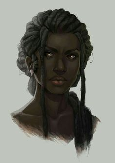 f portrait NPC baewall: My new norn necro, Sivrunn. Black Girl Art, Black Women Art, Black Art, Art Girl, Black Characters, Fantasy Characters, Female Characters, Character Portraits, Character Art
