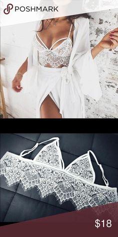 New Sheer Bralette NEW Women Ladies Sheer Lace Bralette Bra Top Sexy Transparent Lingerie Brassiere Backless Strappy Bras Intimates & Sleepwear Bras