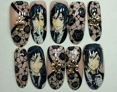 黒執事 : Character nail art