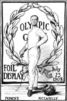 1908 Olympic fencing poster