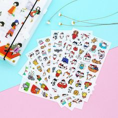 6 pcs/lot Cute Kawaii Cartoon PET Stickers Lovely Cat Sticky Paper For Kids Gift Scrapbooking Diary Free Shipping 1093 -in Stationery Sticker from Office & School Supplies on Aliexpress.com | Alibaba Group
