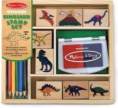 Stempelset Dinosaurier Holz