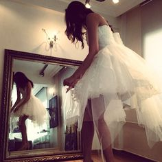 Kısa etek boylu gelinlik #gelinlik #bridal