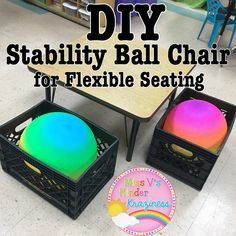 Miss V's Kinder Kraziness!: Flexible Seating HACK! DIY Stability Ball Chairs
