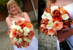 Rust and White Bridal Bouquet - More orchids for the bride!