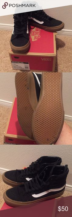 Vans sk8-Hi slim high tops Vans sk8-Hi slim high tops  worn once! Vans Shoes Athletic Shoes
