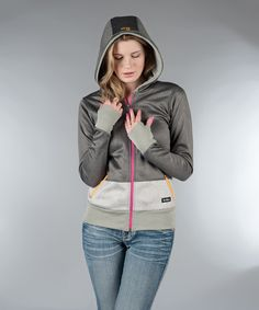Look at this #zulilyfind! Gray Color Block Zip-Up Shauna Hoodie by So Nice Collection #zulilyfinds