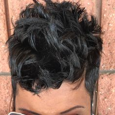 This updo black hairstyles are beautiful. Short Sassy Hair, Girl Short Hair, Short Hair Cuts, Pixie Cuts, Short Relaxed Hairstyles, Pixie Hairstyles, Shot Hair Styles, My Hairstyle, Hairstyle Ideas