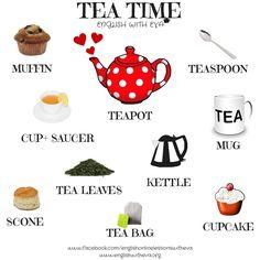 LEARNING ENGLISH, ENGLISH VOCABULARY, TEA TIME