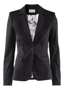 Elegant Black Europe Style Slim Long Sleeves One-Button Blazer