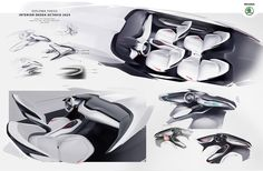 The goal of the diploma project is to design the interior of the A Class Škoda car for the future. The proposal is based on my previous knowledge and experience, while respecting the proportions of the current Škoda Octavia 2013