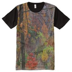 Real Autumn Trees in Arkansas Photo Panel T-Shirt - tap to personalize and get yours Stylish Shirts, S Shirt, Fall Season, Unique Fashion, Printed Shirts, Chiffon Tops, Custom Design, Print Design, Autumn Trees