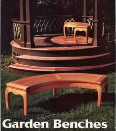 Asian Garden Bench Plans - Outdoor Furniture Plans and Projects | WoodArchivist.com