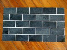 PAINTED faux slate subway tile