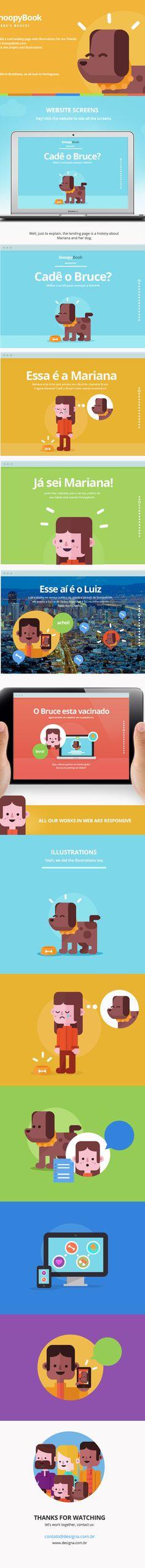 SnoopyBook.com - Landing page by Designa Web, via Behance