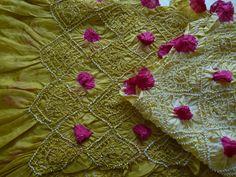bandhani shawl  tie-and-dye