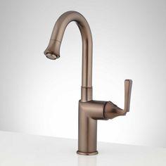 Pieta Single-Hole Kitchen Faucet with Swivel Spout - Oil Rubbed Bronze