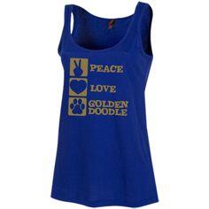 Peace Love Goldendoodle - Women's Scoop Neck Tank Top