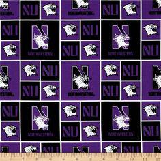 Collegiate Cotton Broadcloth Northwestern University Purple
