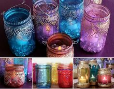 TInted Moroccan Jars Tutorial