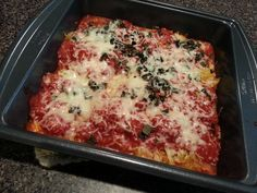 Baked spaghetti squash, recipe from Food Network.  Healthy, AND my husband loved it!