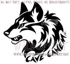 Cave Canem Fierce Wolf Head Design by WildSpiritWolf.deviantart.com on @DeviantArt