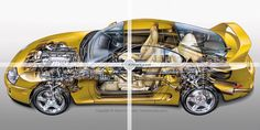 RWD sports car cutaway by Kevin C Hulsey