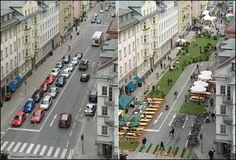 In Gent experimenteren we met 'leefstraten' en ook in het buitenland durven ze verder dromen. Een knap voorbeeld uit Salzburg! via Gent fietst