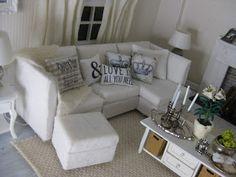 1:6 Scale White sofa
