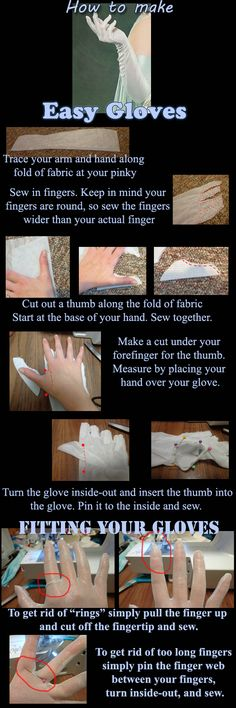 How to make easy gloves by Silver-Fyre.deviantart.com on @DeviantArt