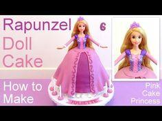 Tangled Rapunzel Cake How to Make a Disney Princess Rapunzel Doll Cake - YouTube