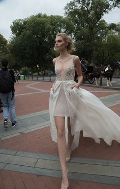 Inbal Dror 2016 Wedding Dresses, short wedding dress | itakeyou.co.uk #short #weddingdress