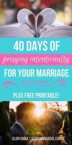 40 prayers for your marriage to help you draw closer to Christ. Pray intentionally for your marriage in 40 days with this prayers for marriage challenge!