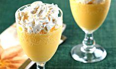 Gelado de abacaxi com leite de coco