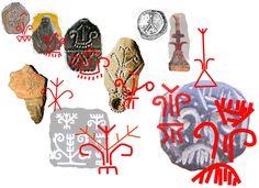 """Arborele vieţii îşi are originea în neoliticul Vechii Europe. Simbolul """"V"""" al Marii Zeiţe, bucraniul-uter şi pieptenele-perie, trei simboluri de regenerare, au fost grupate pentru o amplificare a semnificaţiei sacre, într-o anumită ordine care s-a păstrat de-a lungul timpului."""