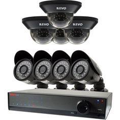 Revo Lite 16-Channel 2TB 960H DVR Surveillance System with Eight 700TVL Cameras