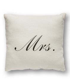 'Mrs.' Throw Pillow