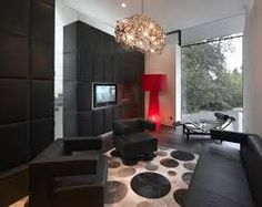 living room designs with hardwood floors. Outstanding Black Dark Hardwood Floors Designs  Leather Wall Partition with a hint of Red Sofas Squaremodern Rug 15 Awesome Living Room With Top