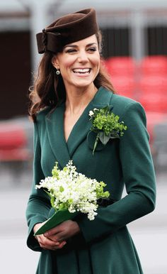 When they receive their traditional St. Patrick's Day sprig of shamrock tomorrow, the Irish Guards will be smiling — but not at Princess Kate. Despite carrying out the duty four previous times, Kate will be skipping this year's ceremony, with her husband Prince William, who's the Colonel of the regiment